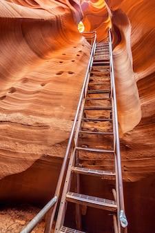 Vue de la sortie d'antelope canyon, page, usa