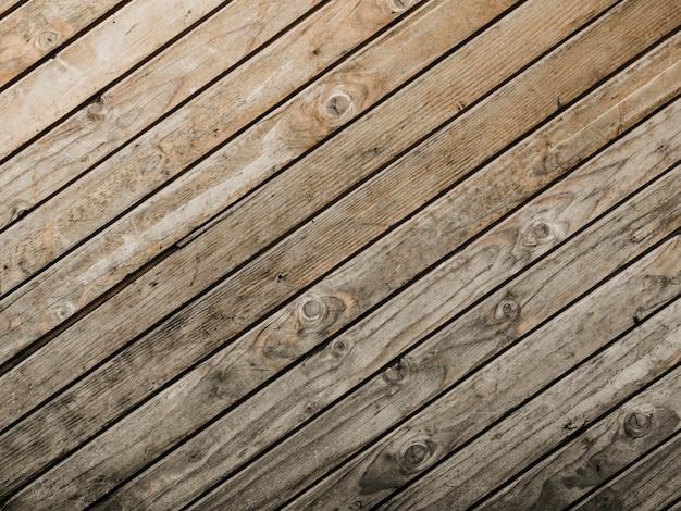 Vue surélevée de fond texturé en bois