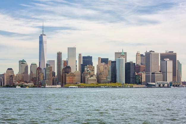 Vue sur les toits de manhattan à new york