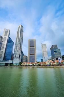 Vue urbaine de paysage urbain de singapour