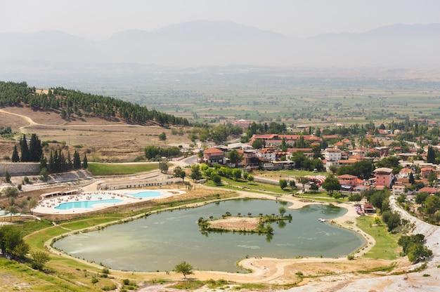 Vue sur la vallée de pamukkale