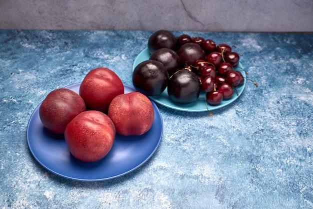 Vue de la variété de fruits rouges
