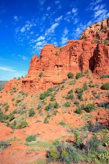 Vue verticale du paysage sauvage près de sedona