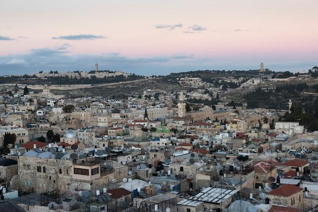 Vue de la vieille ville de jérusalem, israël
