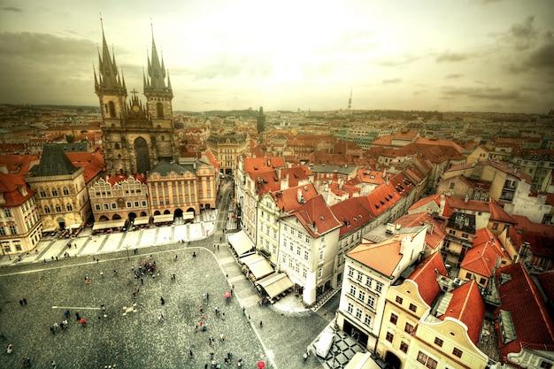 Vue de la vieille ville à prague.