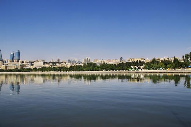 La vue sur la ville de bakou, azerbaïdjan