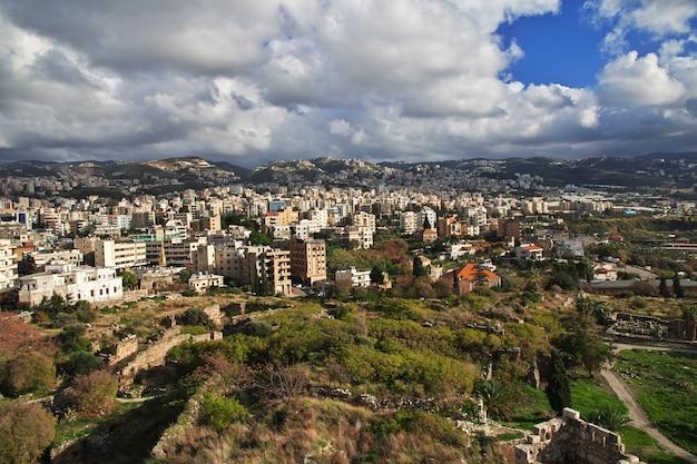La vue sur la ville de byblos, liban