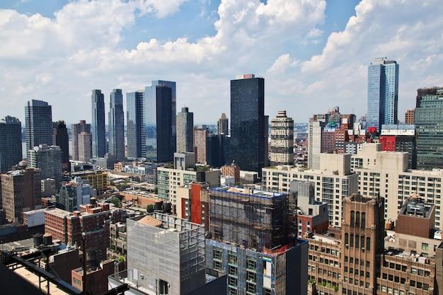 La vue sur la ville de new york aux états-unis