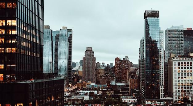 Vue de la ville de new york, états-unis