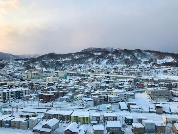 Vue sur la ville d'otaru, hokkaido, japon