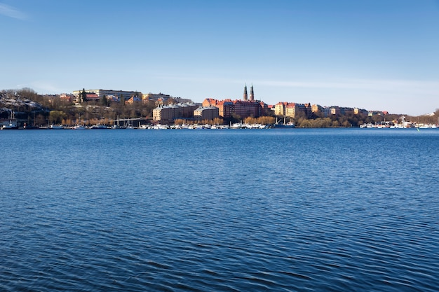 Vue sur la ville de la vieille ville de stockholm