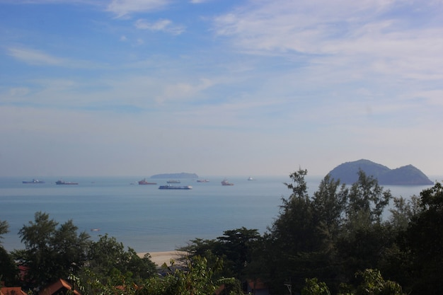 Vues de la côte vue du haut.
