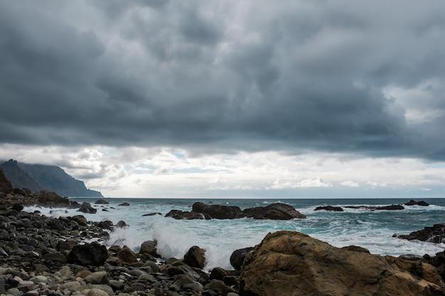 Vues de la plage du parc paysager d'anaga