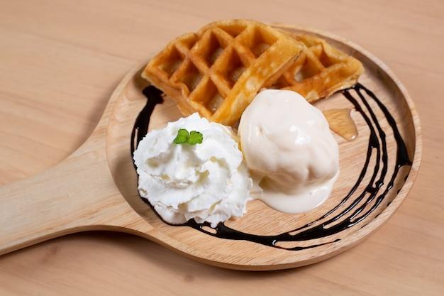 Waffle vanilla water