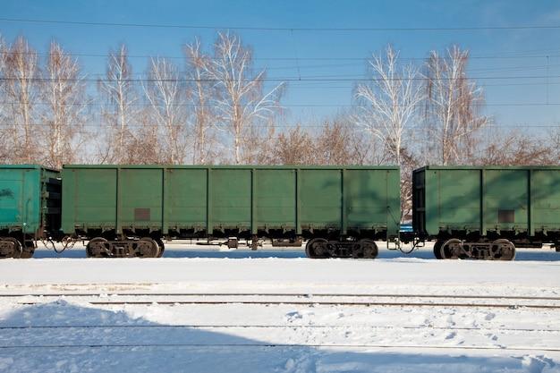 Wagons de fret à la gare