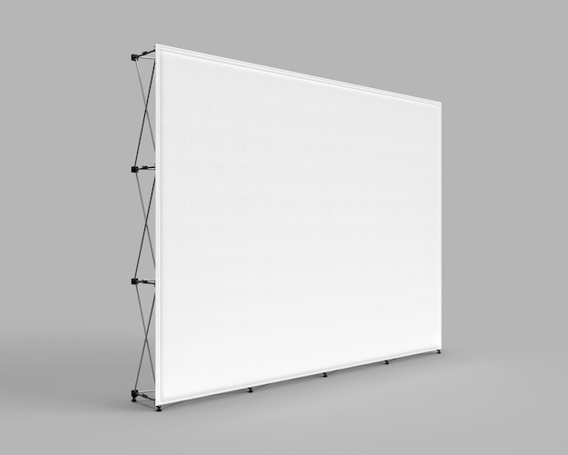 Wall banner cloth exhibition trade show mur graphique isolé sur fond gris