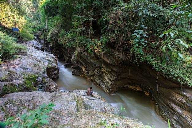 Wang sila laeng. attraction touristique à sila laeng, thaïlande province de nan, thaïlande.