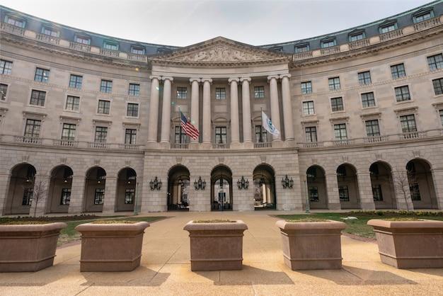 Washington dc bâtiment autour de la gare fédérale triangle architecture presque vieux bureau de poste, états-unis