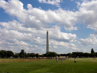 Washington dc monuments célèbres, ciel, nuages