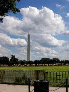 Washington dc monuments célèbres, icône, ciel