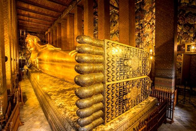 Wat pho, bouddha couché statue en orthaïlande, bangkok, thaïlande