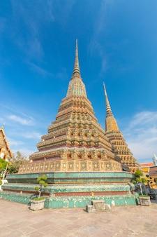 Wat pho, célèbre temple du bouddhisme à bangkok, thaïlande