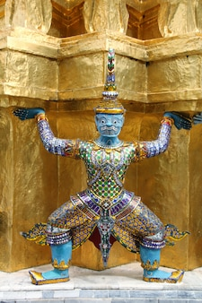 Wat phra kaew grand palace à bangkok, thaïlande