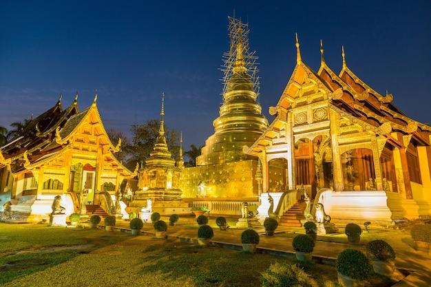 Wat phra singh - temple bouddhiste à chiang mai, thaïlande