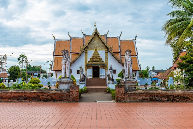 Wat phumin, district de muang, province de nan, thaïlande.