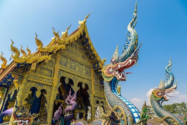 Wat rong sua ten blue temple à chiang rai, thaïlande