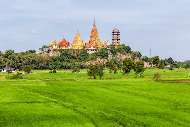 Wat tham suea dans la province de kanchanaburi en thaïlande
