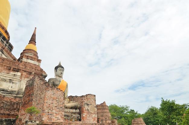 Wat yai chai mongkol - ayuttaya de thaïlande