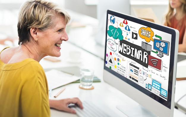 Webinaire innovation web design technologie concept