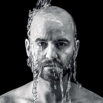 Wet fine portrait