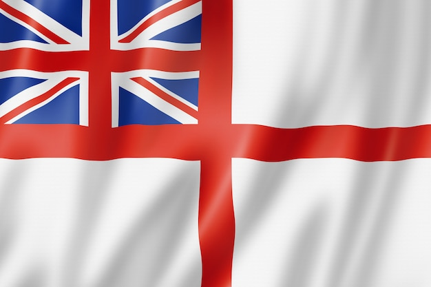 White ensign, drapeau de la royal navy, royaume-uni