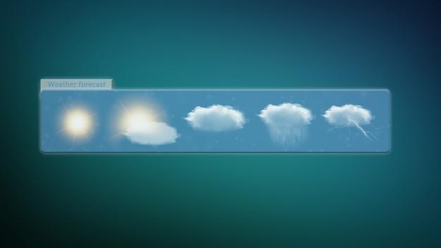 Widget prévisions météo isolé