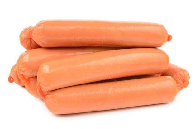 Wieners isolés sur blanc