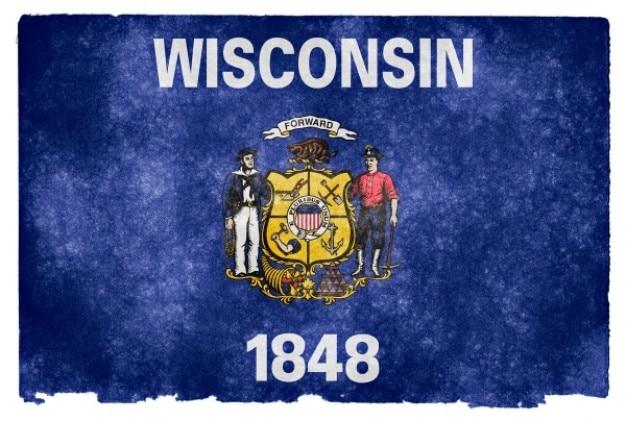 Wisconsin grunge flag