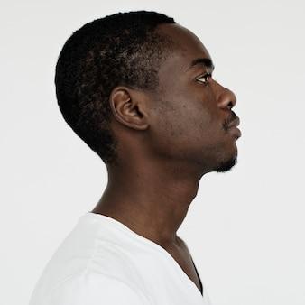 Worldface-namibian guy dans un fond blanc