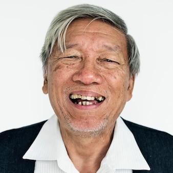 Worldface-thai homme dans un fond blanc