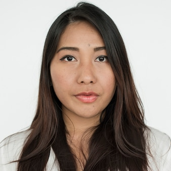 Worldface-thai woman dans un fond blanc