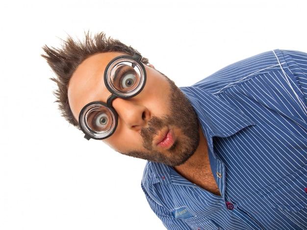 Wow expression avec des lunettes
