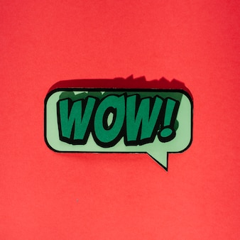 Wow message dans un style comique pop art