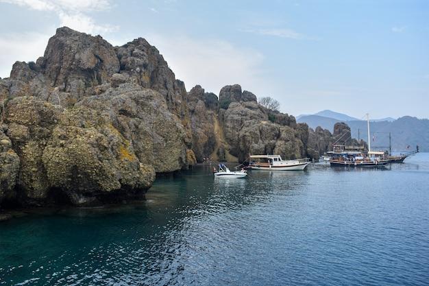 Yachts au large de la mer égée. turquie