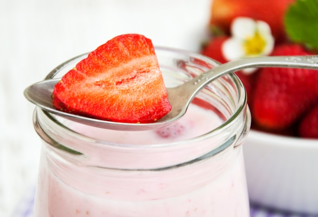Yaourt à la fraise