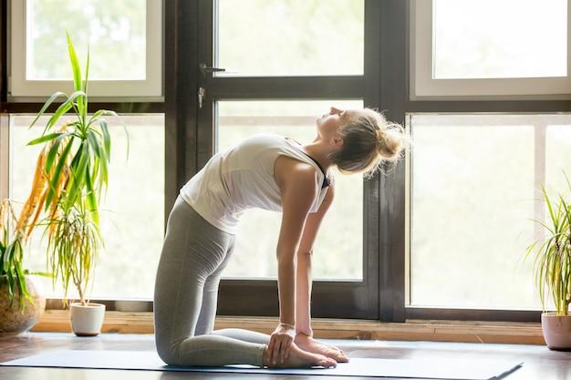 Yoga à la maison: ustrasana pose