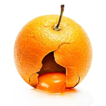 Yok en orange craquelé