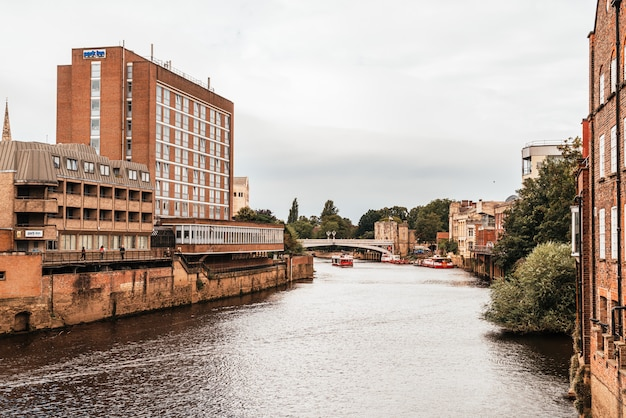 York city avec river ouse à york uk.