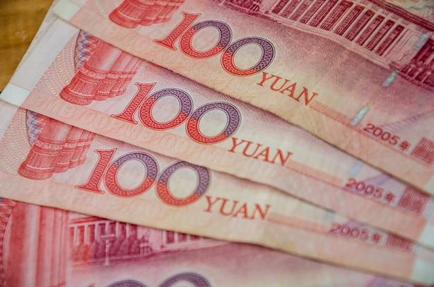 Yuan chinois pour la surface. concept financier.