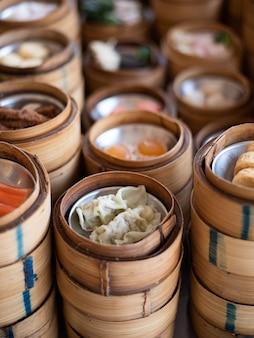 Yumcha, dim sum en paquebot en bambou, cuisine chinoise